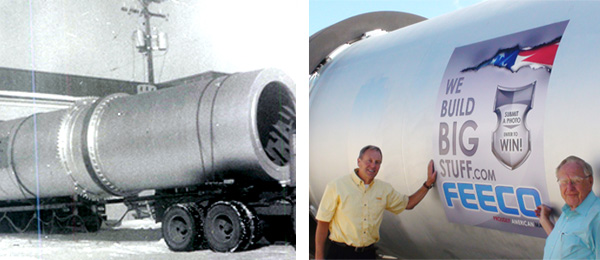 Rotary Drums Since 1951 ~ James Madigan (left) and son Dan Madigan