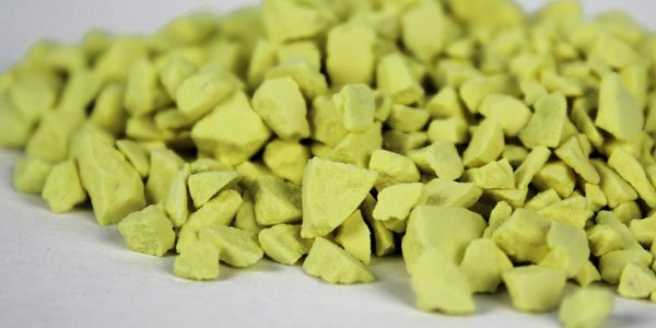 Sulfur granules