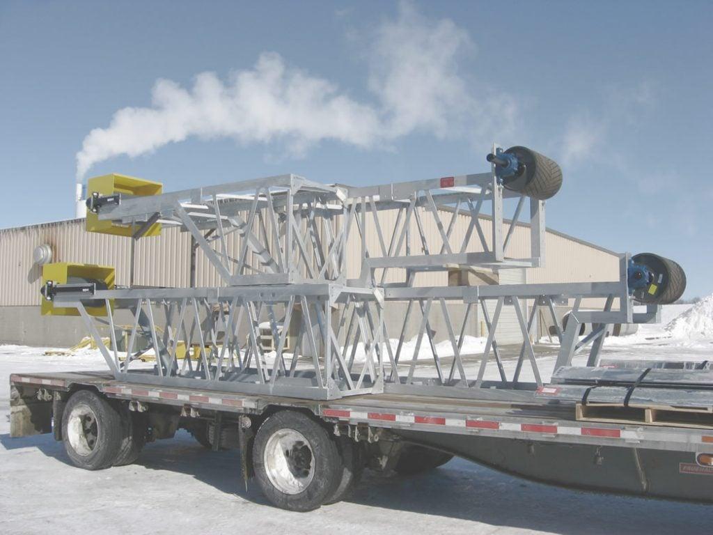 magnesite ore conveyor system