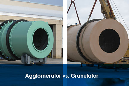 Rotary Drum Agglomerator vs Rotary Drum Granulator