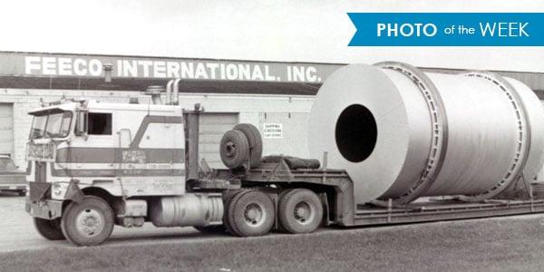 A rotary drum awaits shipment to FEECO's customer.
