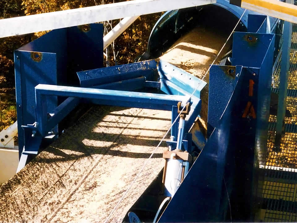 FEECO Belt Plow (also known as a belt diverter)