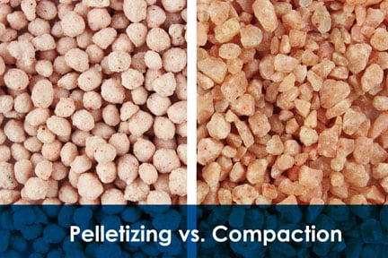 Pellets (left) and Granules (right)
