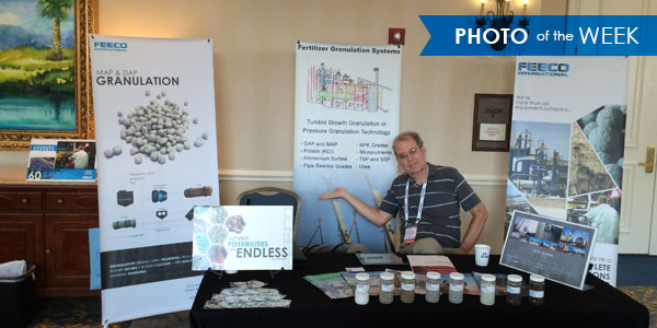 FEECO's Mike Weinecke at Phosphates 2015 Conference and Exhibition.