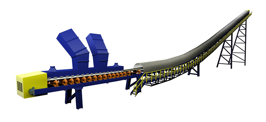 3D Troughed Belt Conveyor by FEECO International