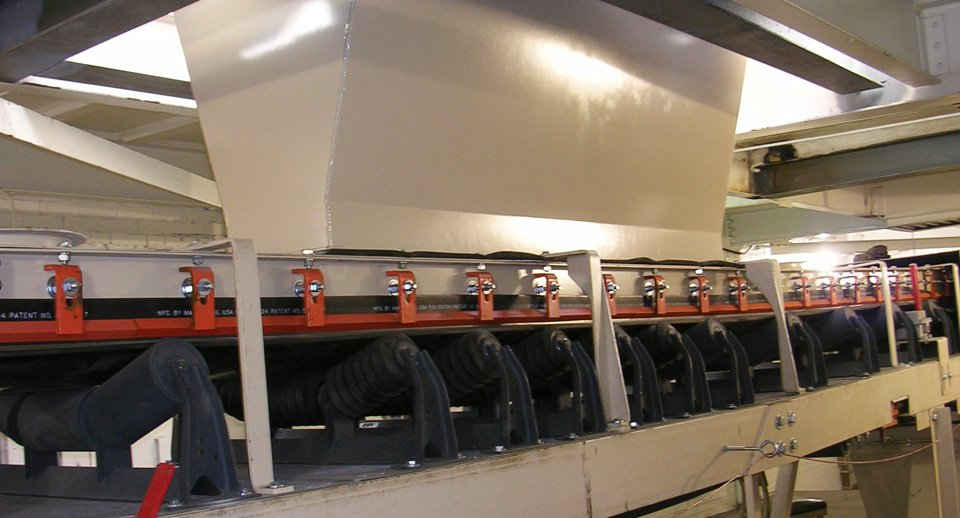 FEECO Belt Feeder installed on conveyor