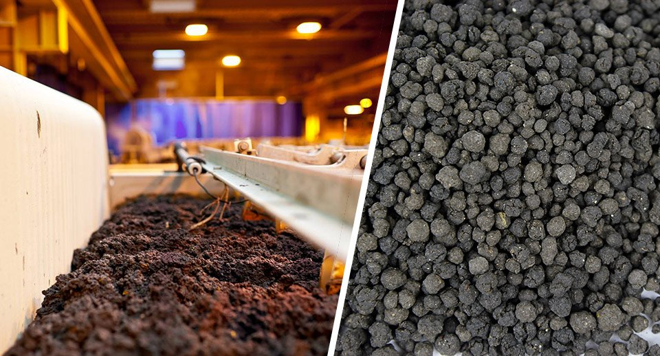 Biosolids Processing Before and After in the FEECO Innovation Center