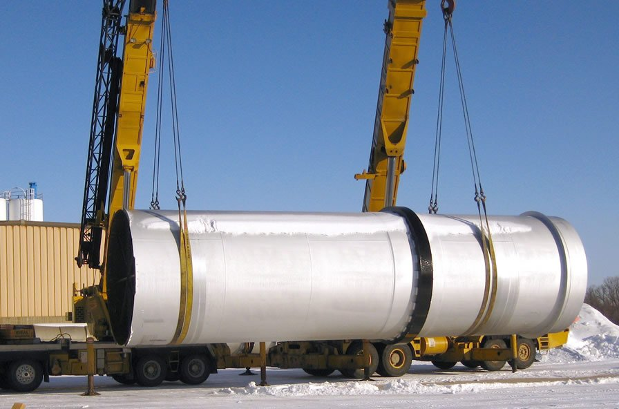 DAP MAP Rotary Drum Dryer being loaded