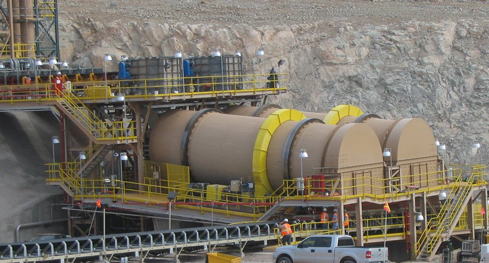 Copper Ore Drums (Agglomerators) Manufactured by FEECO International