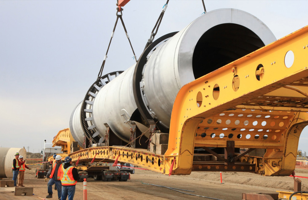 Potash Rotary Dryer (Drier) being loaded on truck