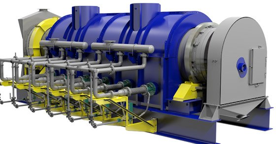 3D Model of a FEECO Carbon Reactivation Kiln