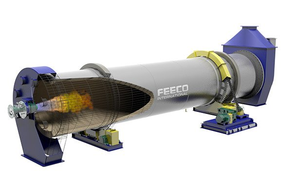 A Look at Activated Carbon Thermal Regeneration, 3D Model of a FEECO Rotary Kiln