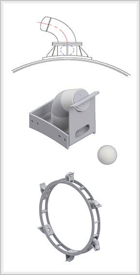Ball & Tube Knocking System Diagram