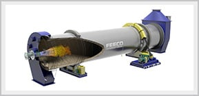 Upgrading Phosphate Ore, 3D Model of a FEECO Rotary Kiln