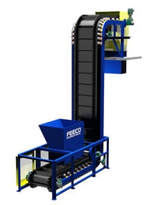 Steep Incline Conveyor for Phosphates