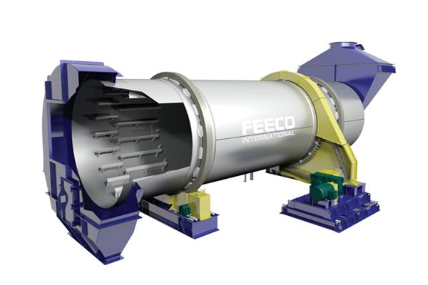 Rotary Cooler for Roofing Granules