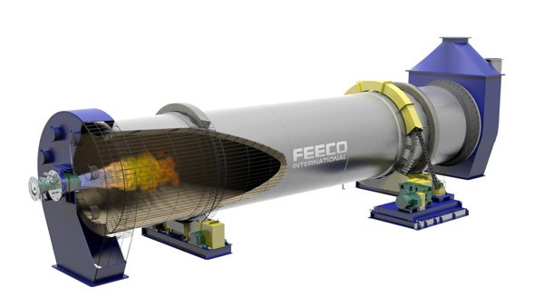 Rotary Kiln for Upgrading Phosphate Ores