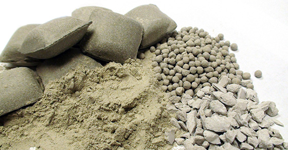 Clay Agglomerate Samples Produced in the FEECO Innovation Center