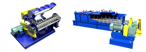 Industrial Mixers for Fly Ash Lightweight Aggregate (LWA) Production, Pin Mixer, Pugmill Mixer (Pug Mill, Paddle Mixer)