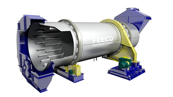 Rotary Cooler for Fly Ash Lightweight Aggregate (LWA) Production