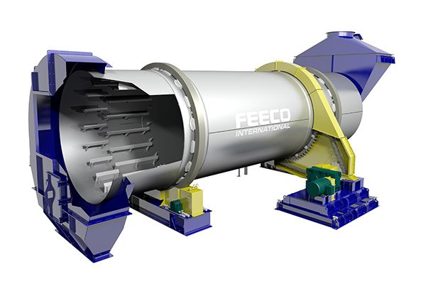 3D Image Showing a FEECO Rotary Cooler