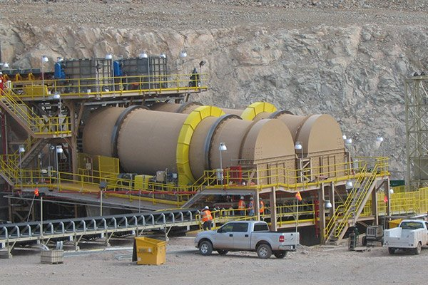 Agglomeration Drums in the Heap Leaching Process