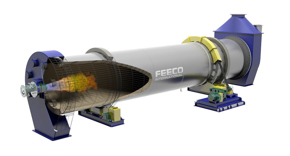 Direct-Fired Rotary Kiln for Spodumene
