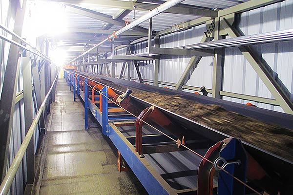 Troughed Belt Conveyors for Wood Chips