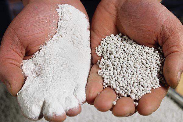 Agglomeration Testing, Material Before and After Pelletizing (Pelletising)