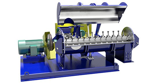 Pin Mixer Operating Theory Featured Image, 3D Model of a FEECO Pin Mixer