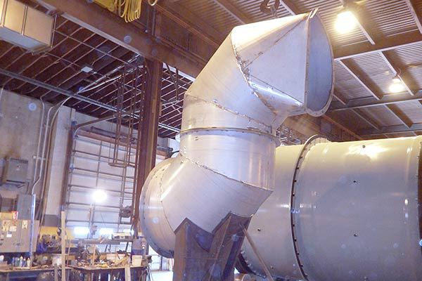 Rotary Dryer (Drier) Combustion Chamber Ducting