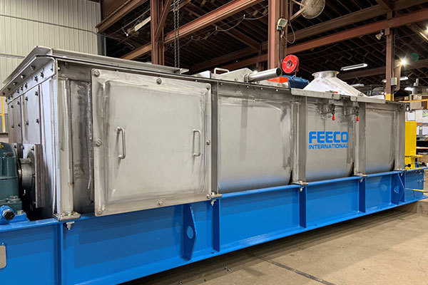 FEECO Pugmill Mixer (Paddle Mixer) in Fabrication