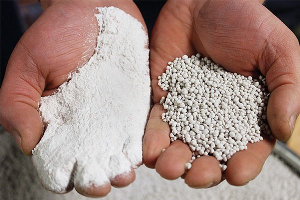 Potash Before and After Agglomeration