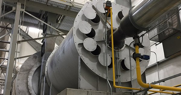 Rotary Dryer with Combustion Chamber